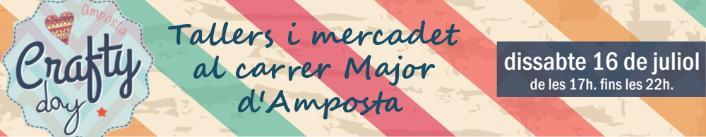 Crafty Day. Tallers i mercadet al carrer Major d'Amposta. 16 de juliol de 2016