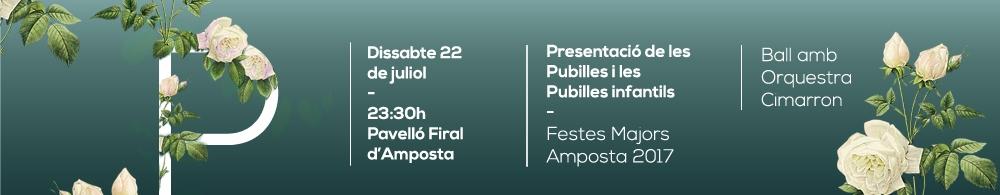 Presentació pubilles Amposta 2017.