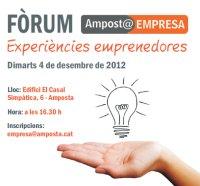 Amposta Empresa configura el segon Fòrum Experiències Emprenedores per al 4 de desembre