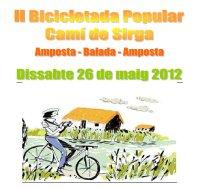 L'Oficina de Turisme d'Amposta organitza la II Bicicletada Popular Camí de Sirga, Amposta – Balada –Amposta.