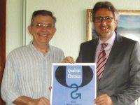 El servei Ampost@EMPRESA de l'Ajuntament rep un premi Qualitat Ebrenca