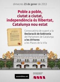 MANIFEST SOBRE LA DECLARACIÓ DE SOBIRANIA DEL POBLE DE CATALUNYA I EL PROCÉS DE TRANSICIÓ NACIONAL