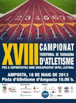 Amposta acollirà 18e. Campionat Territorial de Tarragona d'Atletisme  per a esportistes amb discapacitat intel·lectual.