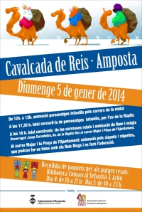 CAVALCADA DE REIS 2014. Diumenge 5 de gener