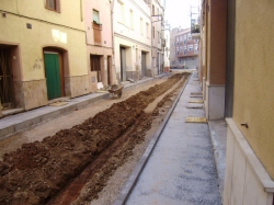 Comencen les obres de rehabilitació de tres dels principals carrers del casc antic