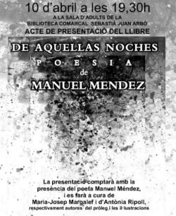 Presentació del llibre de poesia de Manuel Méndez