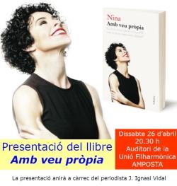 Presentació del llibre «Amb veu pròpia» de Nina.