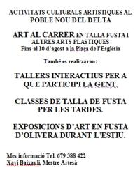 Activitats culturals artístiques al Poble Nou del Delta