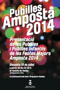 Presentació de les Pubilles de Festes Majors d´Amposta 2014