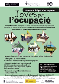 Informació sobre la contractació dels joves del Programa Joves per l'Ocupació