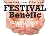 Festival benèfic a favor de les ONG Càritas, Siloé i Creu Roja