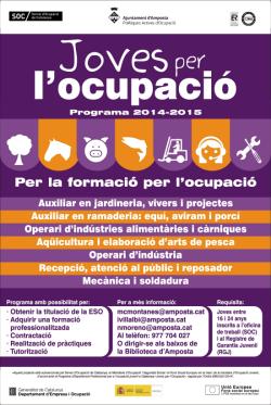NOU PROGRAMA JOVES PER L'OCUPACIÓ!!!!!!!