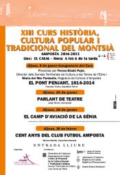 XIII Curs Hist�ria, Cultura Popular i Tradicional del Montsi�