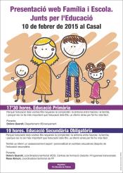 Presentació web Família i Escola. Junts per l´Educació