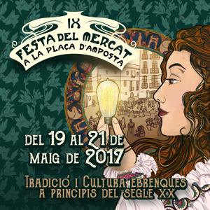 La novena edició de la Festa del Mercat, dedicada a l´arribada de la llum, ja té cartell