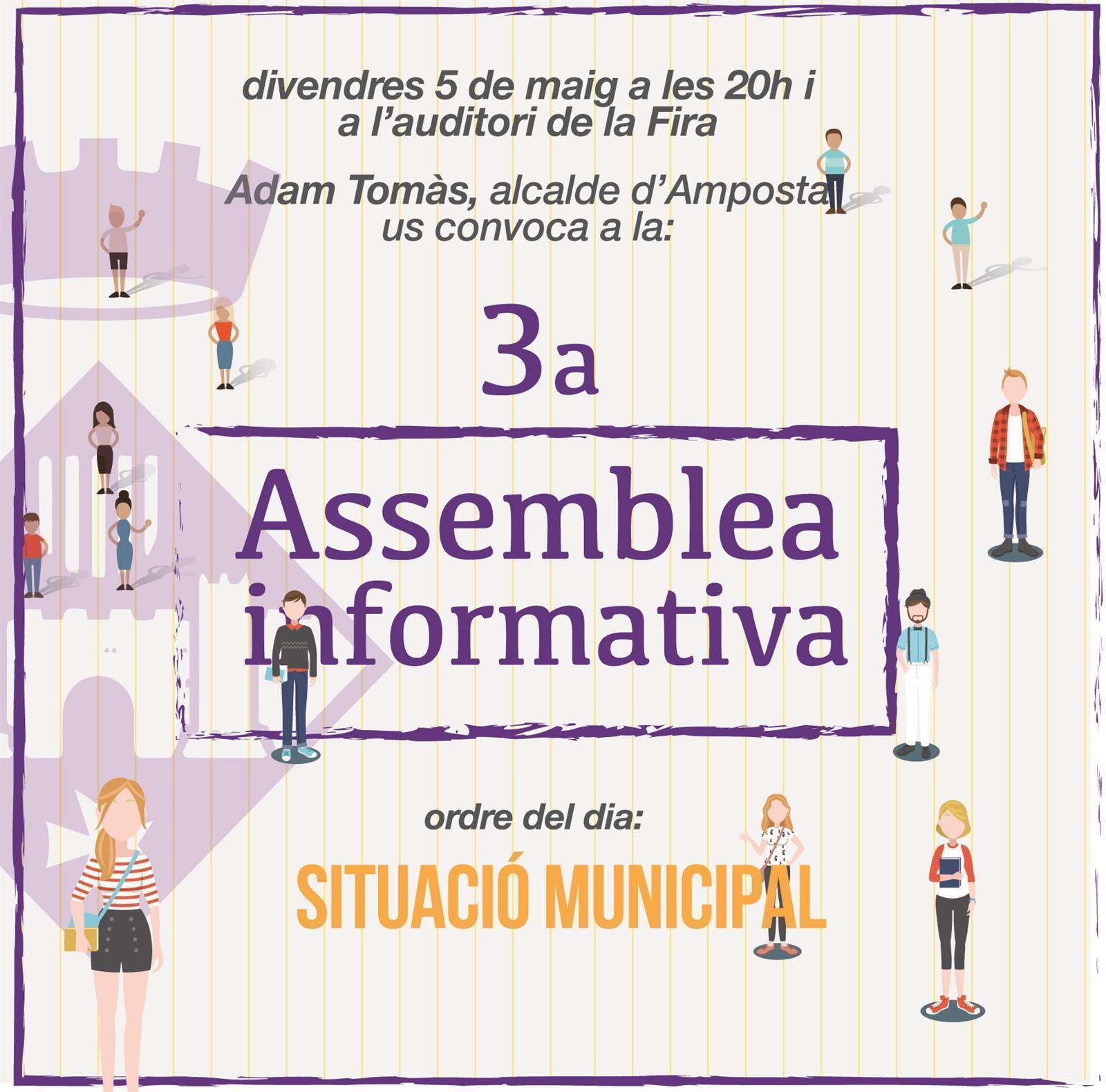 L'Ajuntament d'Amposta organitza la 3a Assemblea Informativa