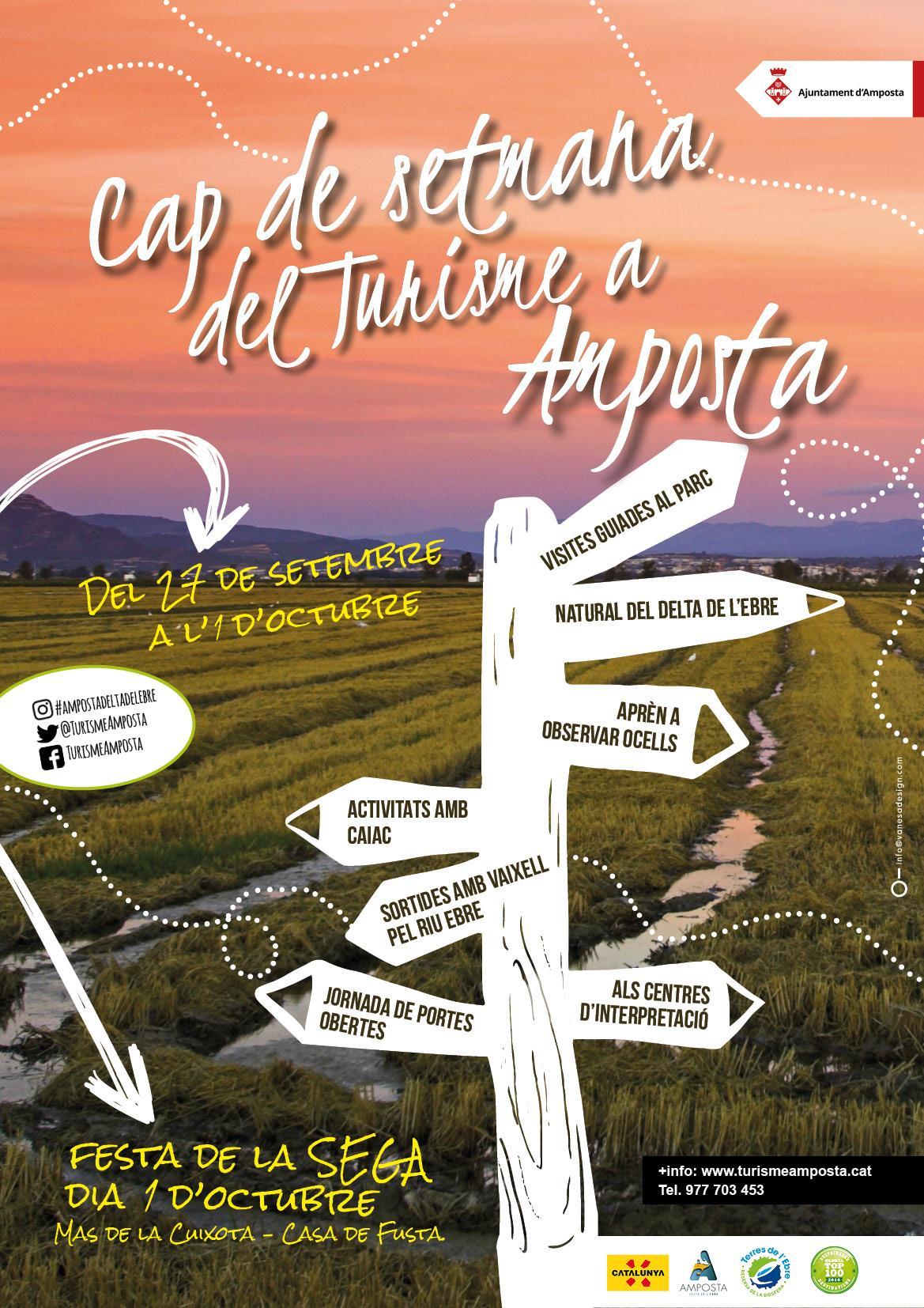 Ajuntament d´Amposta > Comunicació > El turisme sostenible centra les activitats del Dia Internacional del Turisme