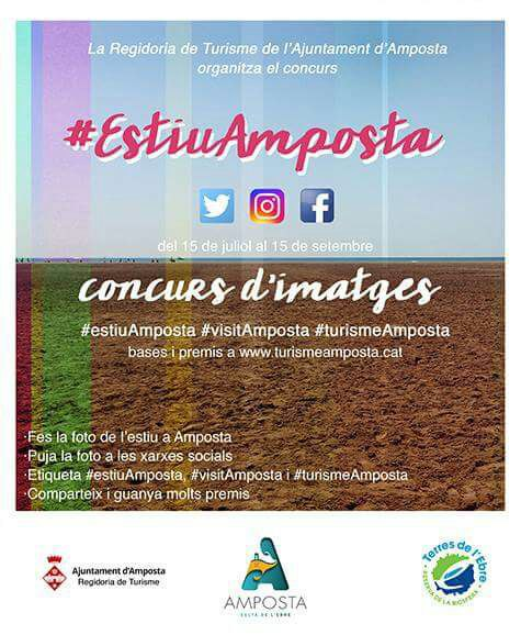 Turisme Amposta convoca el concurs de fotografies a través de les xarxes socials #EstiuAmposta