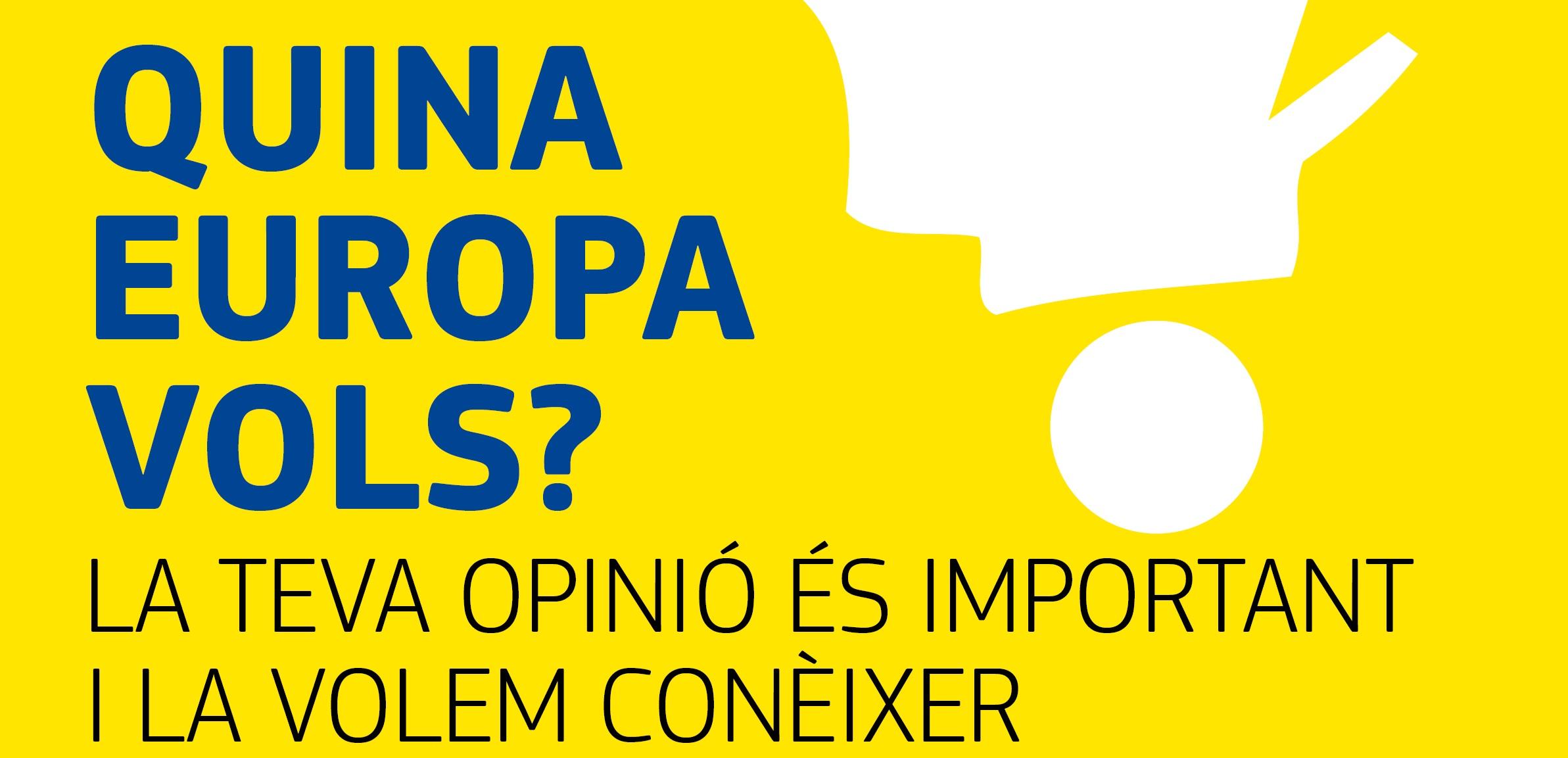 La Comissió Europea i l´Ajuntament d´Amposta conviden els ciutadans a debatre sobre el futur de la UE