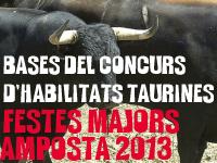 BASES DEL CONCURS D´HABILITATS TAURINES. FESTES MAJORS AMPOSTA 2013