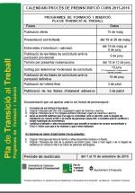 Programa de formació i inserció Pla de Transició al Treball