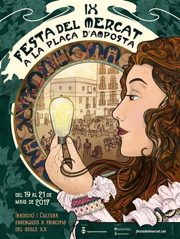 Ajuntament d´Amposta > Comunicació > La novena edició de la Festa del Mercat, dedicada a l'arribada de la llum, ja té cartell