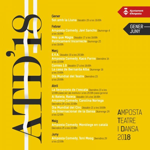 Teatre, circ, dansa i monòlegs conformen la temporada Amposta Teatre i Dansa