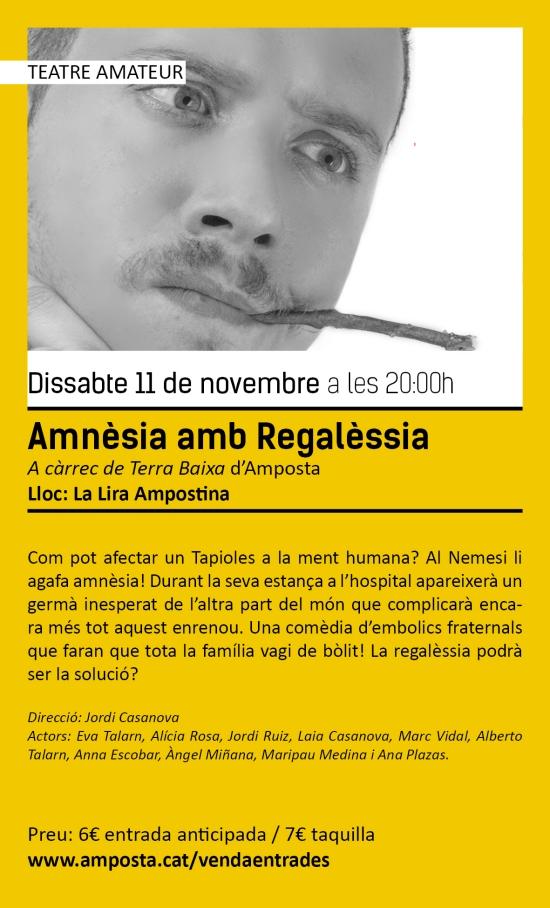Ajuntament d´Amposta > agenda >  Temporada de Teatre i Dansa Amposta 2017. «Amnèsia amb Regalèssia»