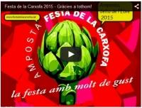 Vídeo de la Festa de la Carxofa 2015 - Gràcies a tothom!
